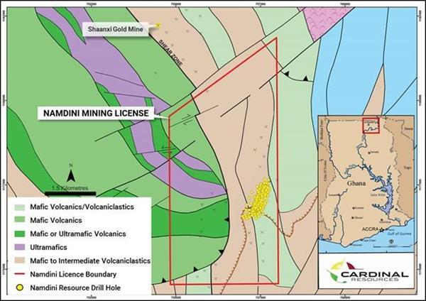 Cardinal Namdini Pre-Feasibility Study 4 76 Moz Ore Reserve