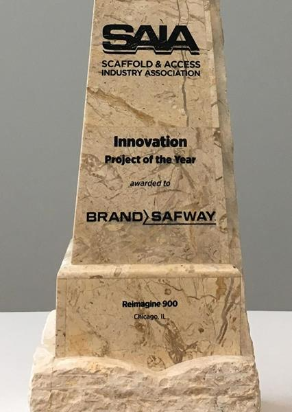 BrandSafway was named the 2018 winner of the Innovation Award from the Scaffold and Access Industry Association (SAIA), the premier professional organization in the industry.
