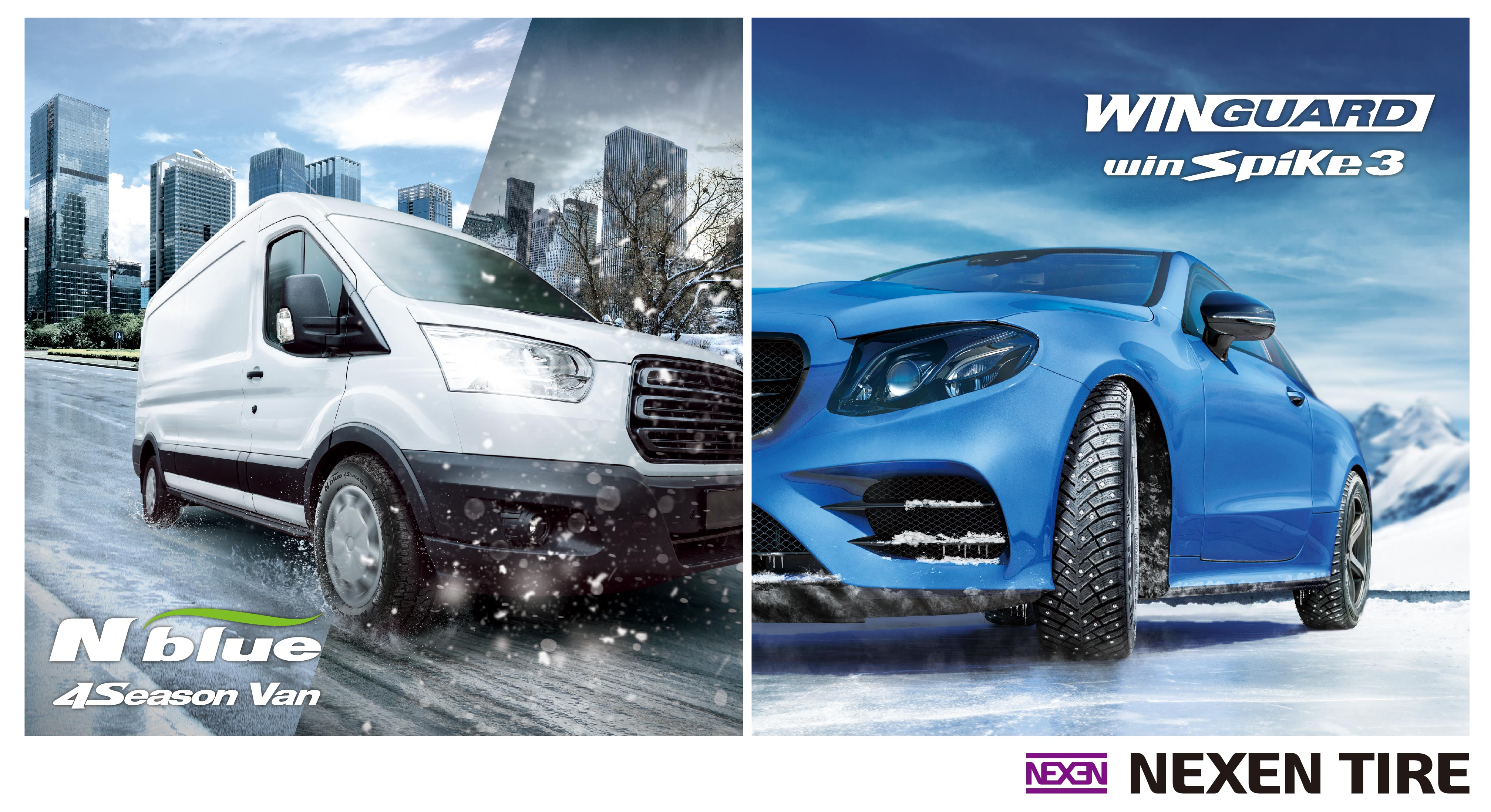 Nexen Tire Launches New All-Season N'blue 4Season Van and Updated WINGUARD winSpike 3 Winter Tyres in European Market