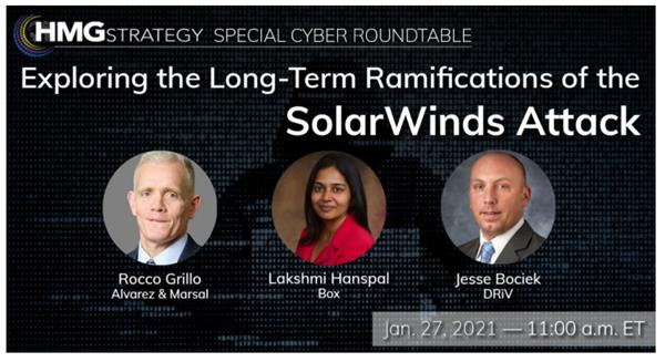HMG Strategy Special Cyber Roundtable: Exploring the Long-Term Ramifications of the SolarWinds