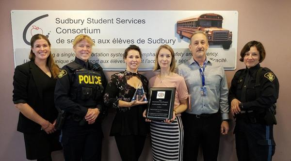 Sudbury Student Services Consortium awarded for its commitment to school safety