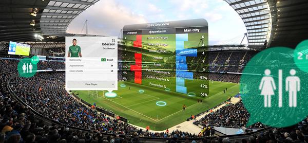 Blippar Indoor Visual Positioning System: Stadium