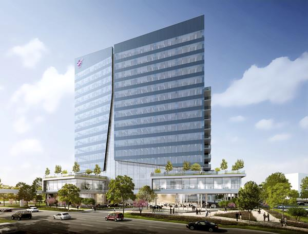 CHRISTUS Health's exterior view of the new system office scheduled to open in Summer 2023.