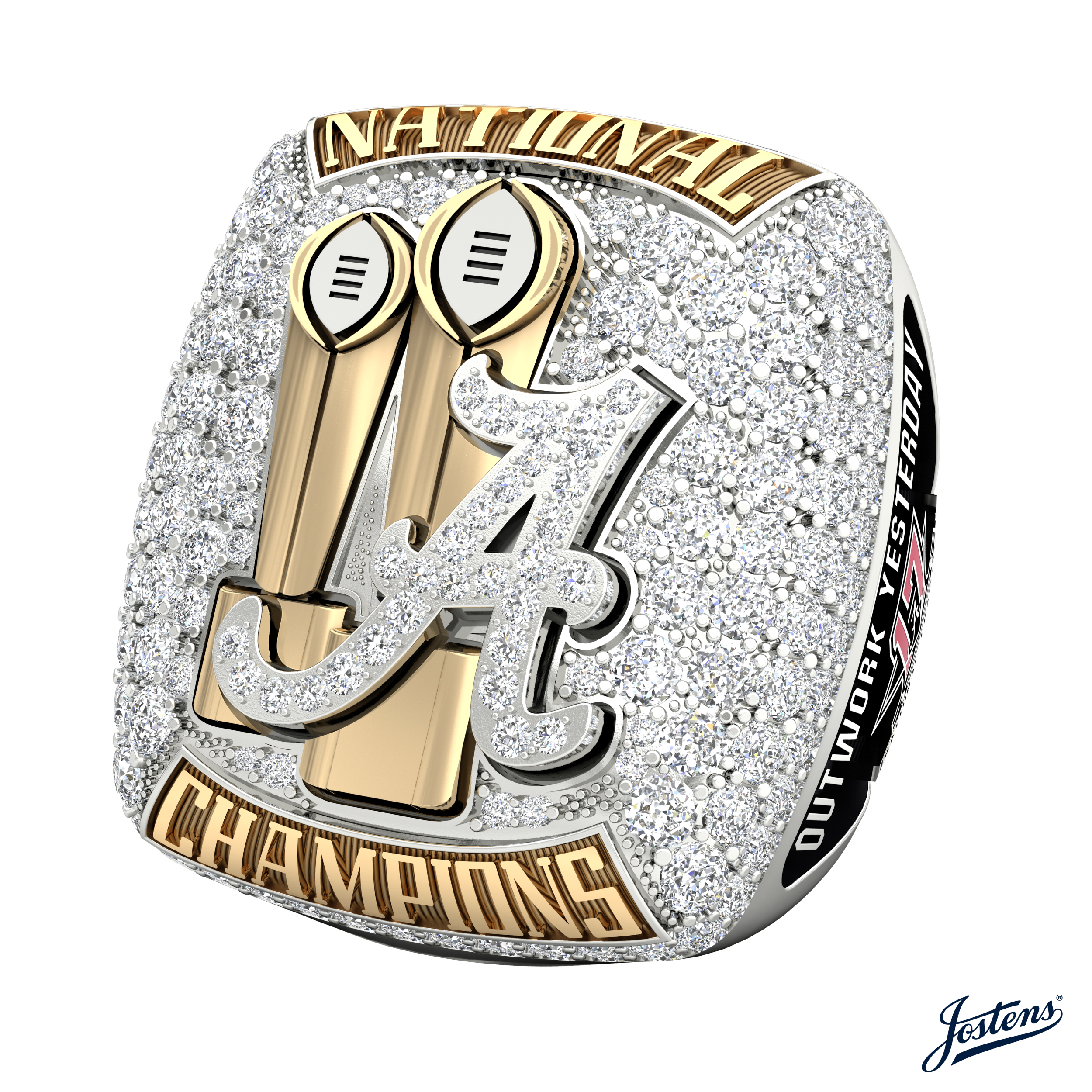 Alabama players received National Championship rings tonight