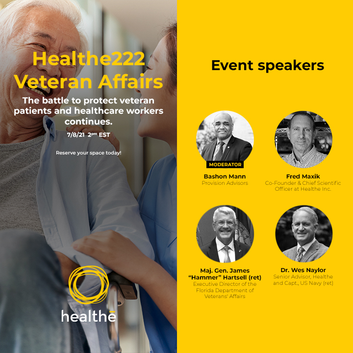 Healthe to Host Virtual Event to Discuss Future-Proofing Veterans Communities with Far-UVC 222 Technology