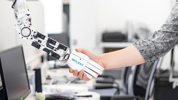 Humans and AI working together.