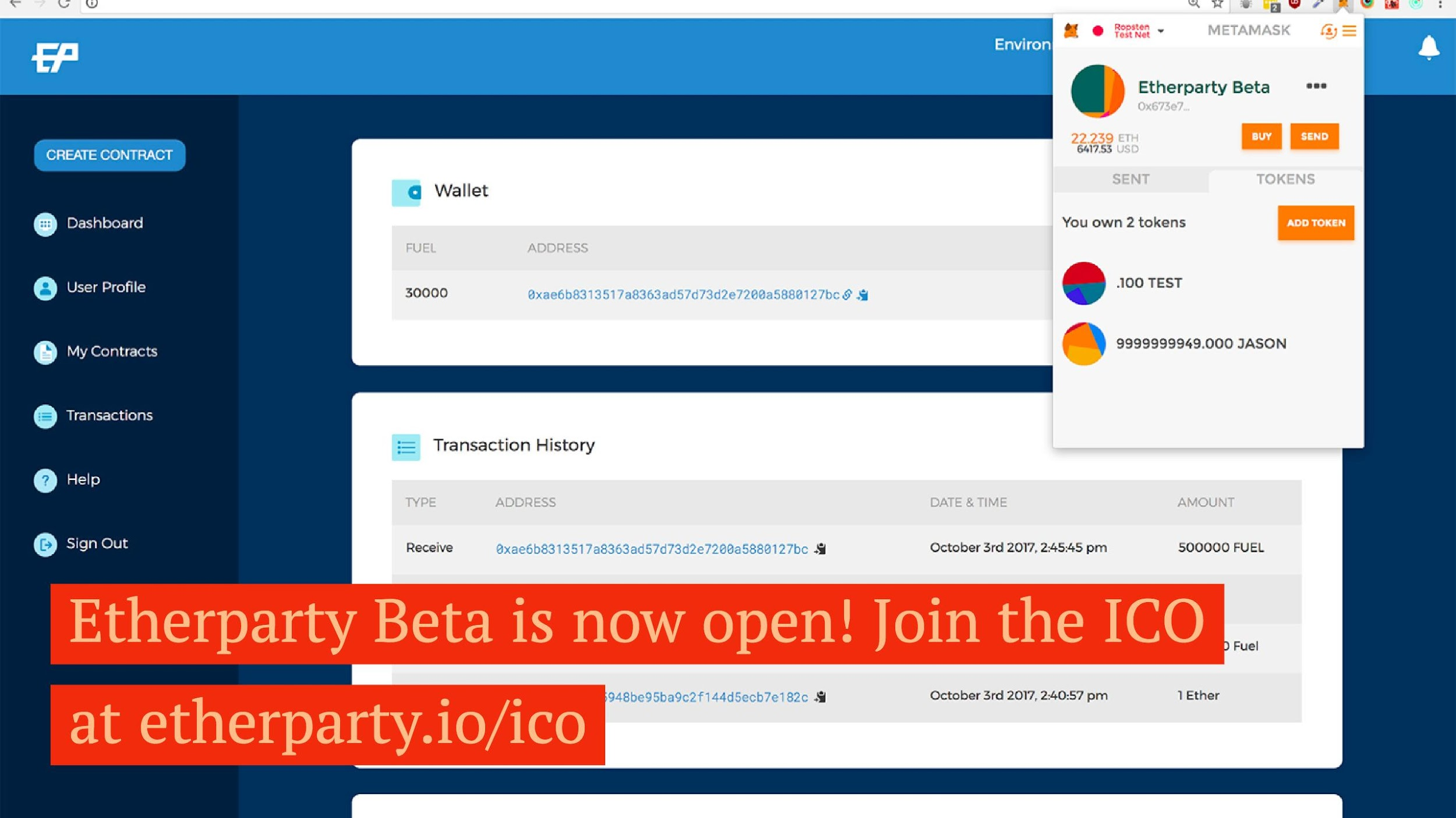 Etherparty Beta Goes Live with 3 Real World Use Cases