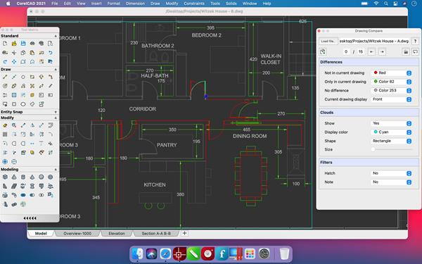 CorelCAD 2021 for Mac - Drawing Compare