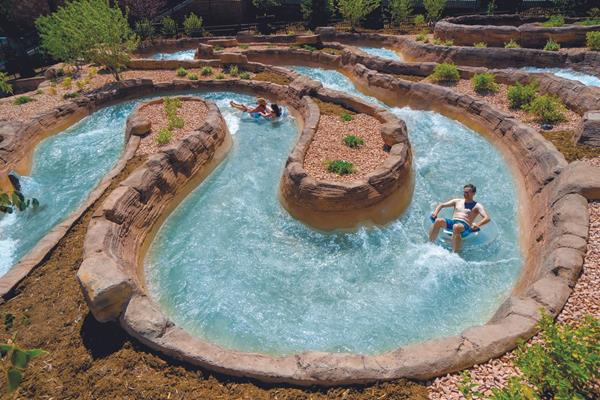 The new Adventure River at Glenwood Hot Springs. One of many wonderful attractions in the town of Glenwood Springs.