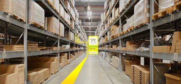 Blippar Indoor Visual Positioning System: Warehouse
