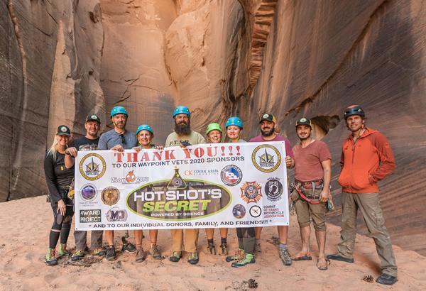Hot Shot's Secret Sponsors Waypoint Vets Utah Canyoneering Adventure