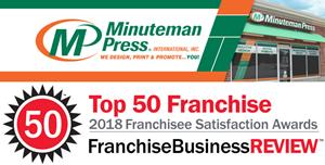 Minuteman Press International Named a 2018 Top Franchise by Franchise Business Review