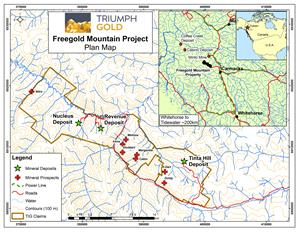 Triumph Gold - Freegold Mountain Project Plan Map