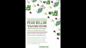 Retail One Pager – Pear Bellini (Immune Booster) Tauri-Gum™