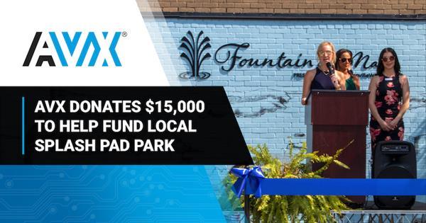AVX Donates $15,000 to Help Fund the Construction of a Splash Pad Park in Fountain Inn, South Carolina