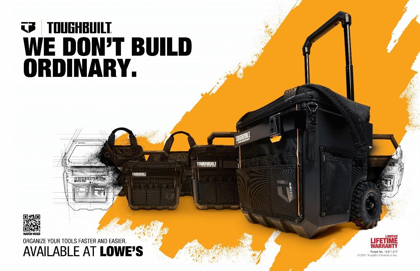 TOUGHBUILT™ LAUNCHES 14 NEW TOOL ORGANIZATION SKUs AT LOWE'S NATIONWIDE — ToughBuilt Industries, Inc. (TBLT)