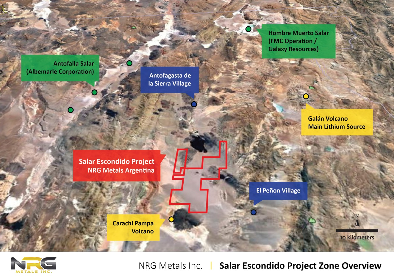 Salar Escondido Project Zone Overview