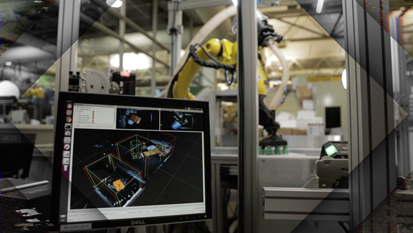 Powered by AI, Plus One's vision software can adapt to variations in product material, size and shape, as well as intermixed, random delivery. Photo: Fanuc America