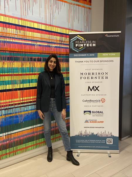 Luvleen Sidhu, Co-Founder, President and Chief Strategy Officer at BankMobile, at the Fearless in Fintech conference in New York on December 11, 2019