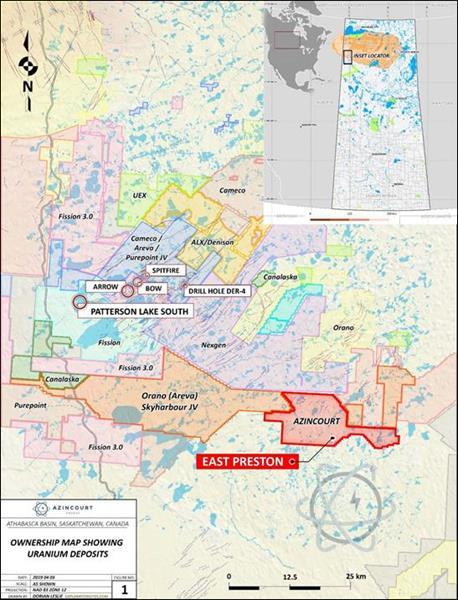 Figure 4: Project Location – Western Athabasca Basin, Saskatchewan, Canada