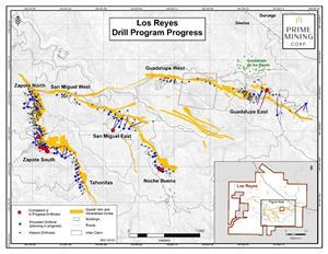 Fig 1 NR Feb 25 2021 Los Reyes Drill Progress
