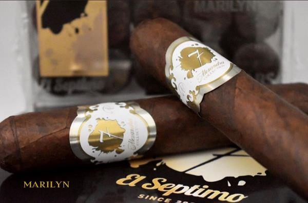 """The new """"MARILYN"""" cigar from El Septimo's Alexandra Collection. It is designed and crafted for women."""