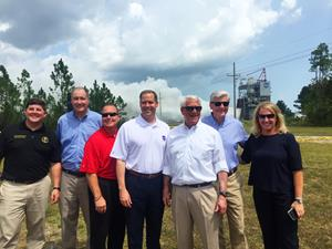 Distinguished guests for the RS-25 engine test at NASA Stennis 8-14-18