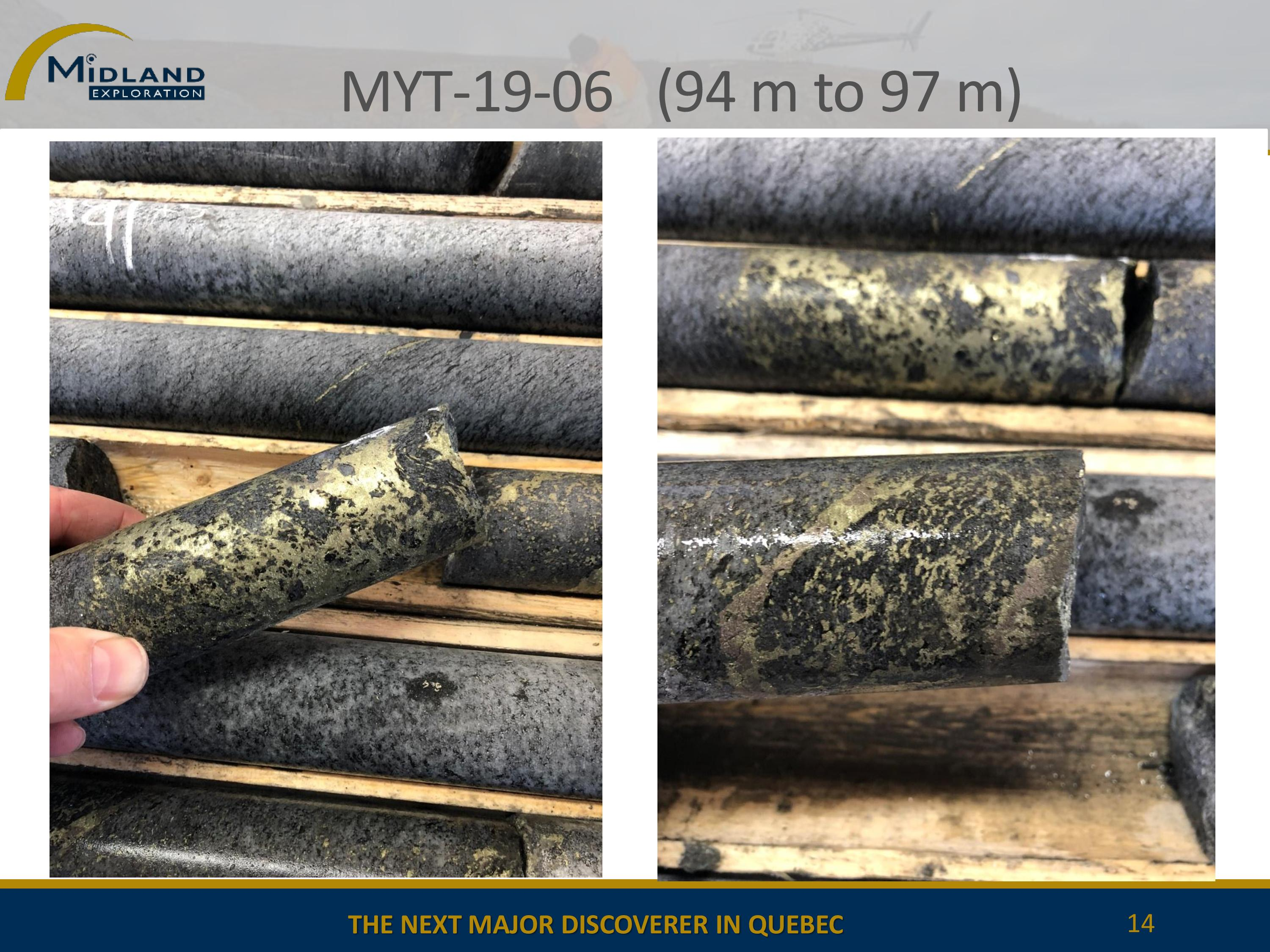 Copper mineralization in MYT-19-06