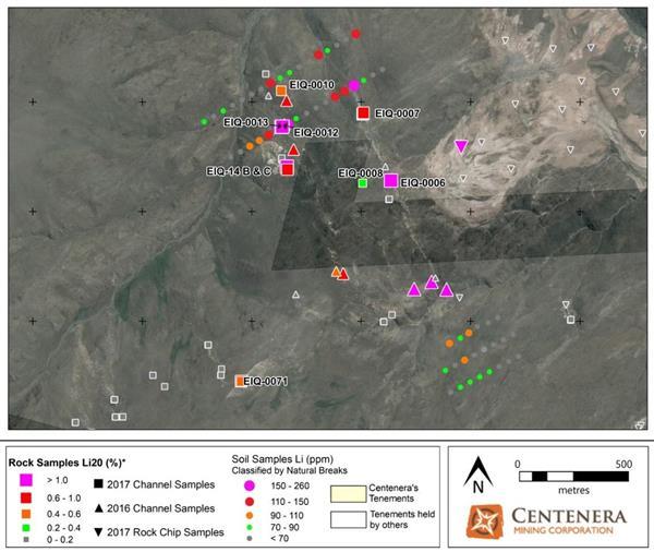 Centenera Reports Positive Surface Sampling Results at El Quemado