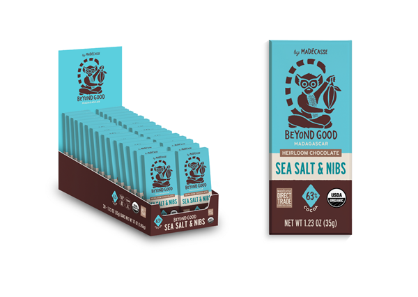 Beyond Good's award-winning Sea Salt & Nibs is now available in a convenient snack-sized 35g chocolate bar.