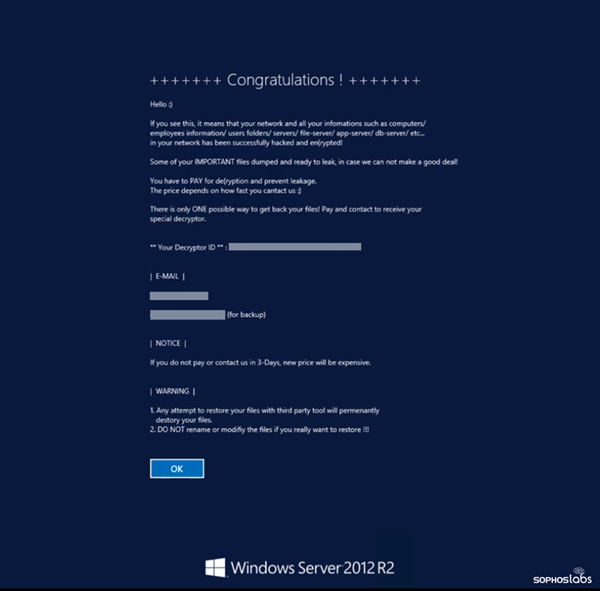 Adobe Cring Ransomware ColdFusion Ransom Note