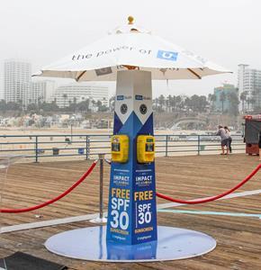 Santa Monica Pier Sun-safety Station.