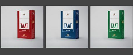 Provisional pack designs for Taat Original, Smooth, and Menthol varieties