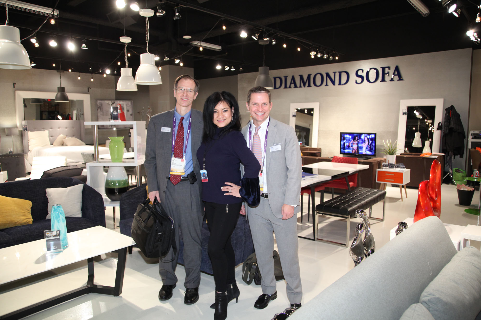 Tawny Lam With Lee Folger And Chris Denby Of Furniture Today