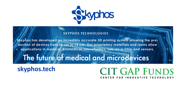 The Center for Innovative Technology (CIT) today announced that CIT GAP Funds - Virginia Founders Fund - has invested in Roanoke, Va.- based Skyphos Industries, an innovator in the three-dimensional printer (3DP) and biotech spaces.