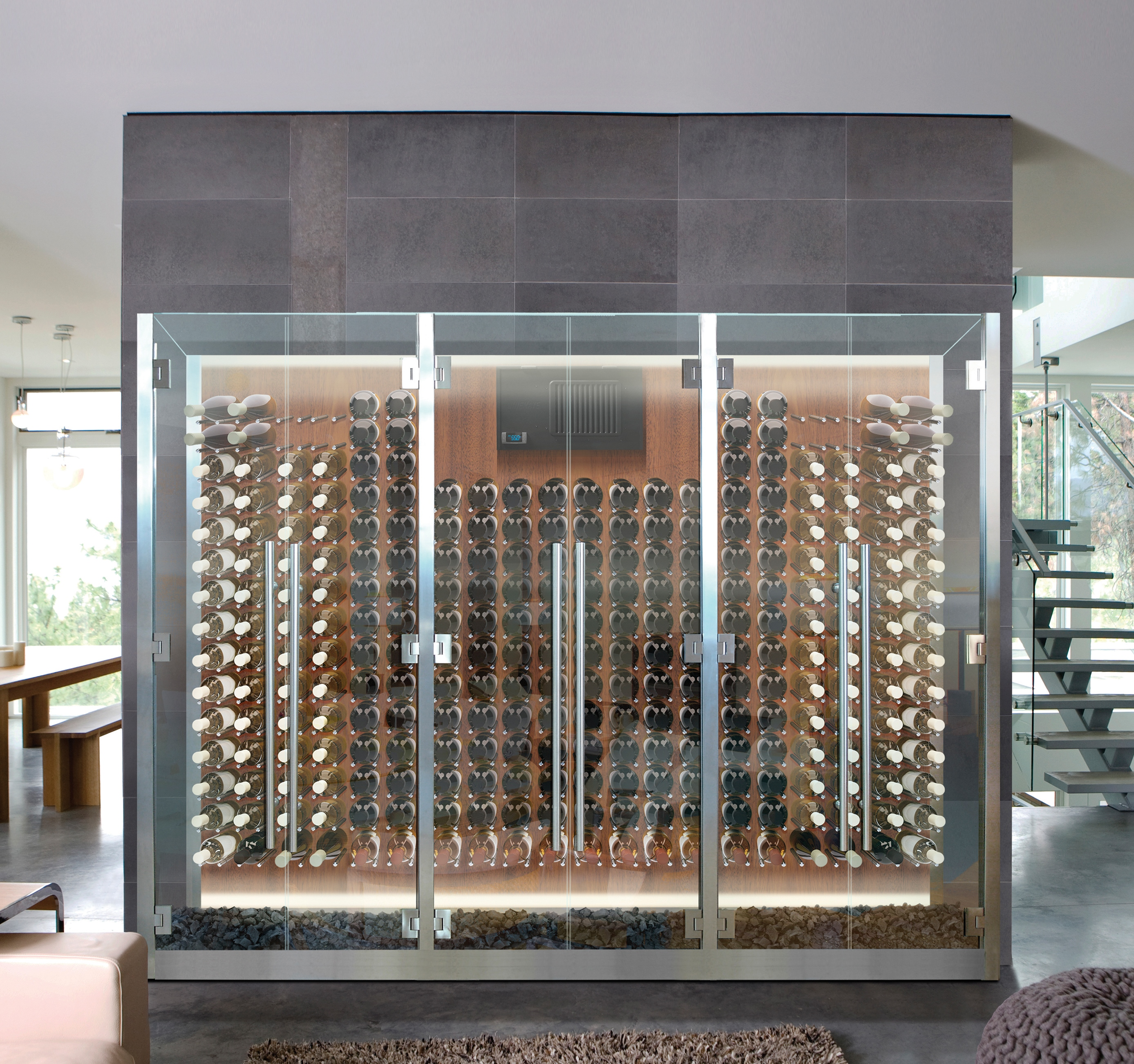 Vinotemp Glass Cabinet With Peg Racking