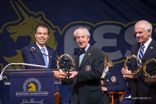 Boston Marathon Wreath Presentation/Photo: Areti Bratsis