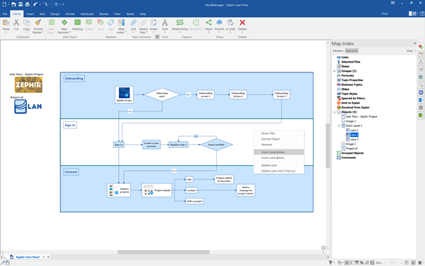 MindManager 2020 - Enhanced Flowcharting Tools