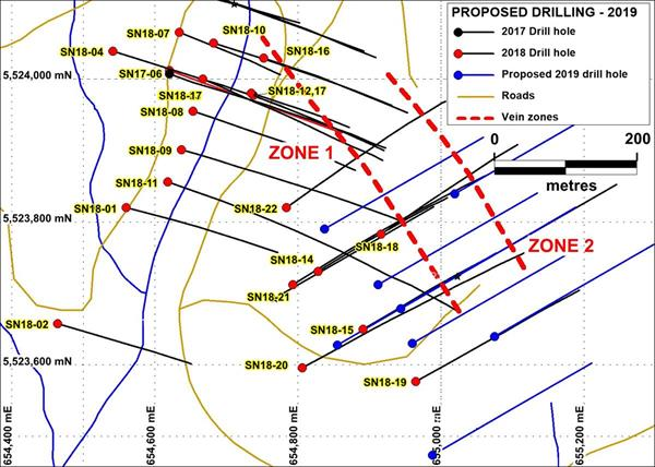 Plan Map of Proposed Drilling