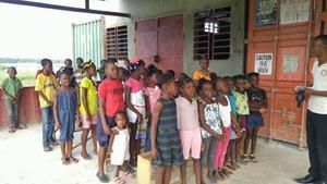 Haitian children at orphanage