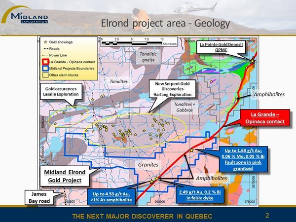 Figure 2 Elrond geology