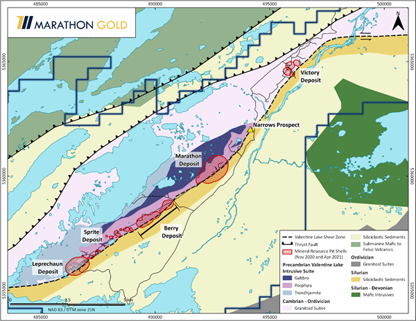Figure 1: Location Map, Valentine Gold Project
