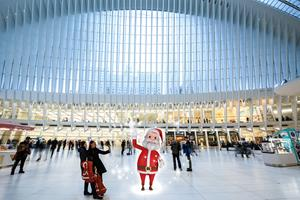 Santa is one of many Augmented Reality characters to greet guests at Westfield shopping centers during The Holiday Hunt.