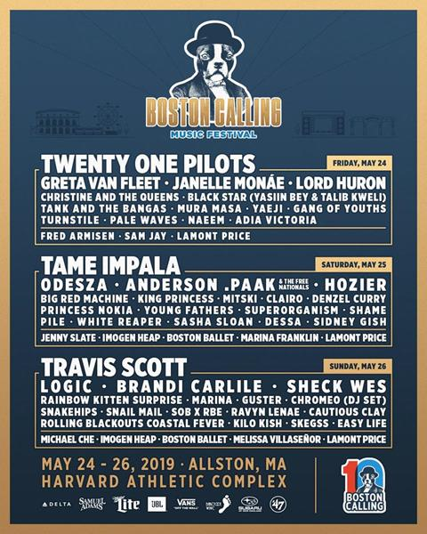 Boston Calling 2019 Day-To-Day Lineup
