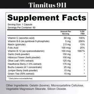 Tinnitus Supplement products Tinnitus 911