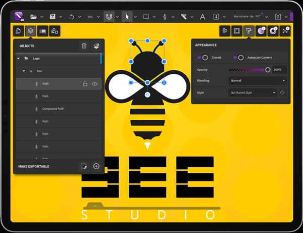 New CorelDRAW.app for iPad