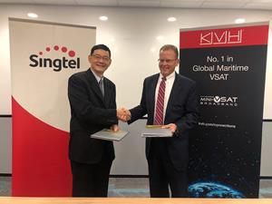 Singtel, KVH Announcement