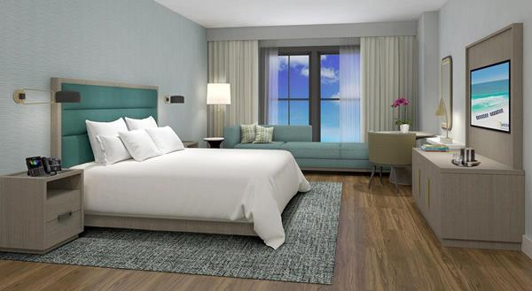 Sandestin Investments, LLC has released interior design renderings for the new Sandestin Hotel as developed in partnership with Design Continuum, Inc. (DCI).  The approach for the Sandestin Hotel, slated for completion in April 2020, integrates thoughtful design with exquisite details.