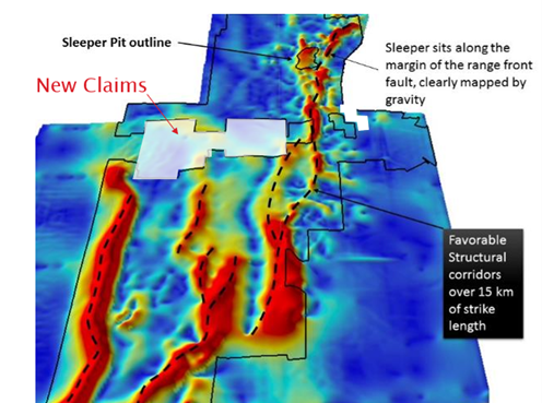 Sleeper Gold Project Land Claims