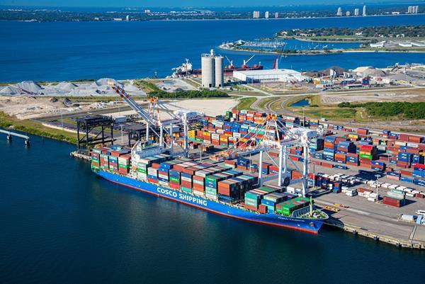 Cosco Shipping at Port Tampa Bay